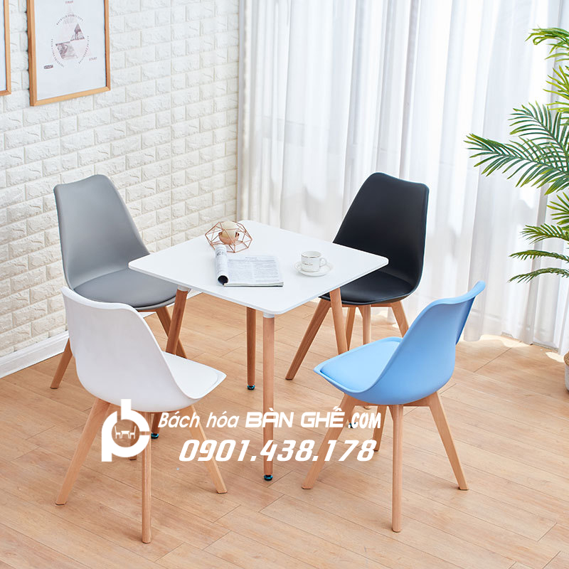 Bộ Bàn vuông 4 ghế tiếp khách văn phòng