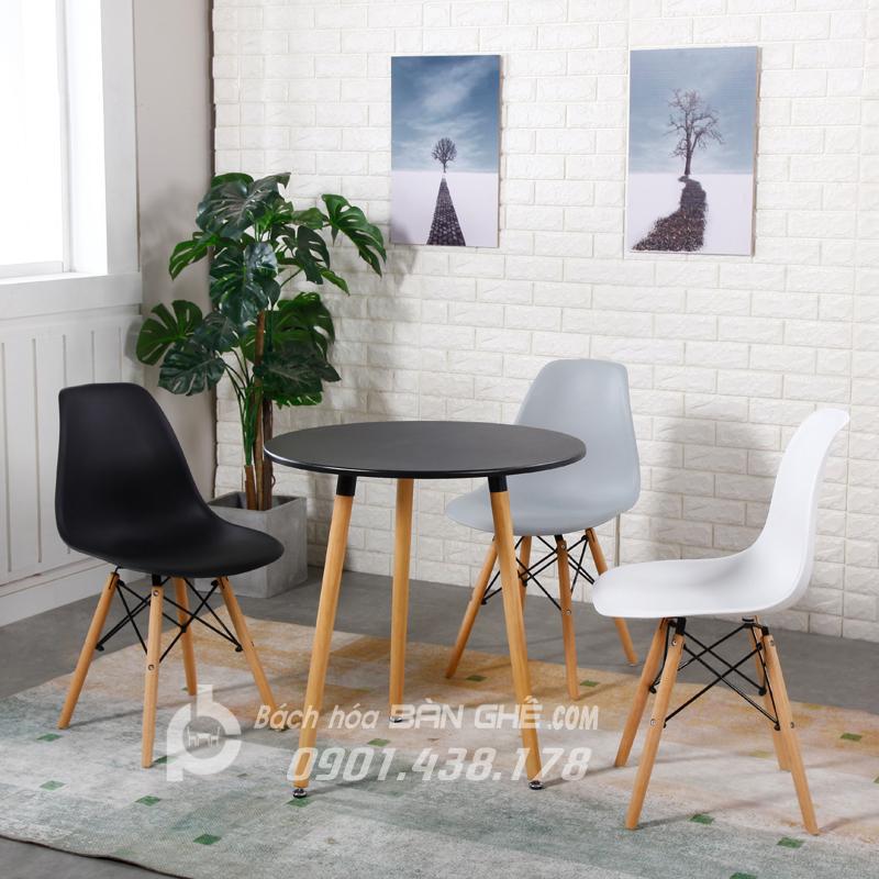 Bộ Bàn tròn 3 ghế tiếp khách văn phòng