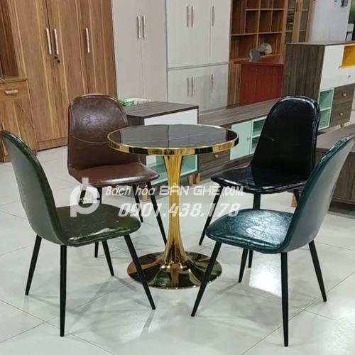 Bộ Bàn tròn 4 ghế tiếp khách văn phòng